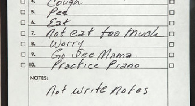 What Did Johnny Cash Write in His To-Do List?