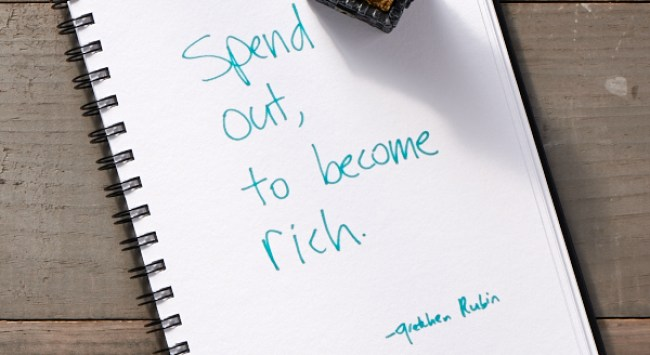 Secret of Adulthood: Spend Out, To Become Rich.
