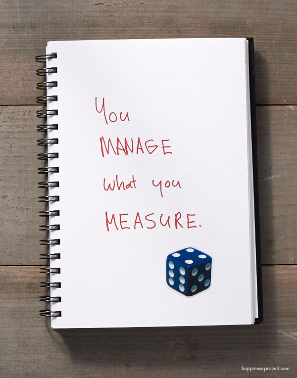 Secret of Adulthood: You Manage What You Measure.