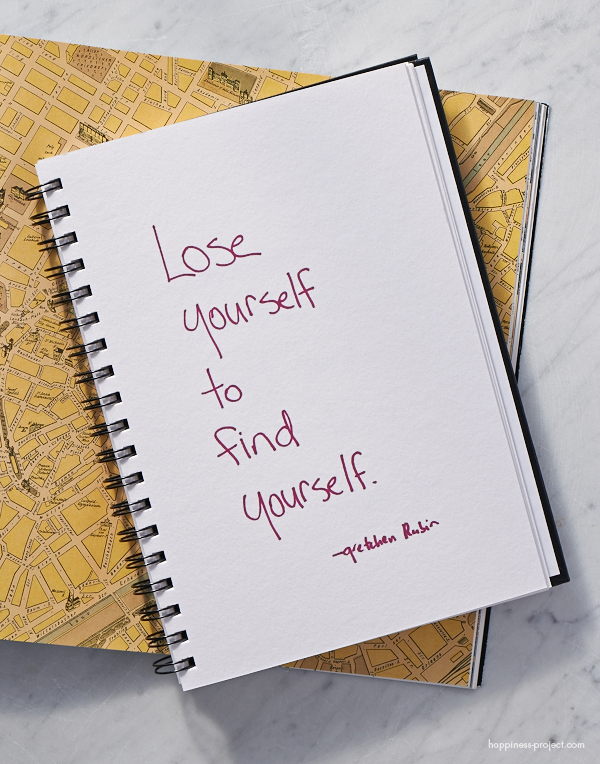 Secret of Adulthood: Lose Yourself to Find Yourself.