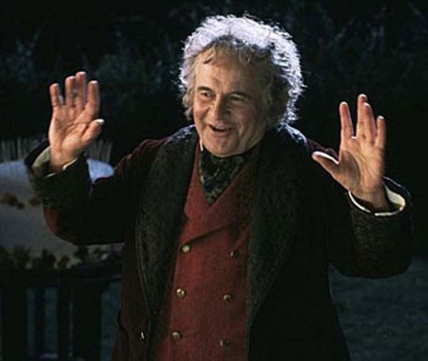 A Moment of Happiness from a Hobbit, from The Lord of the Rings.
