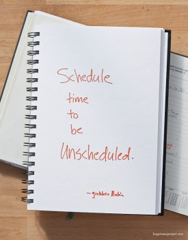 Schedule time to be unscheduled.