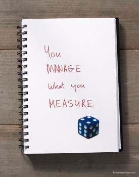 You manage what you measure.