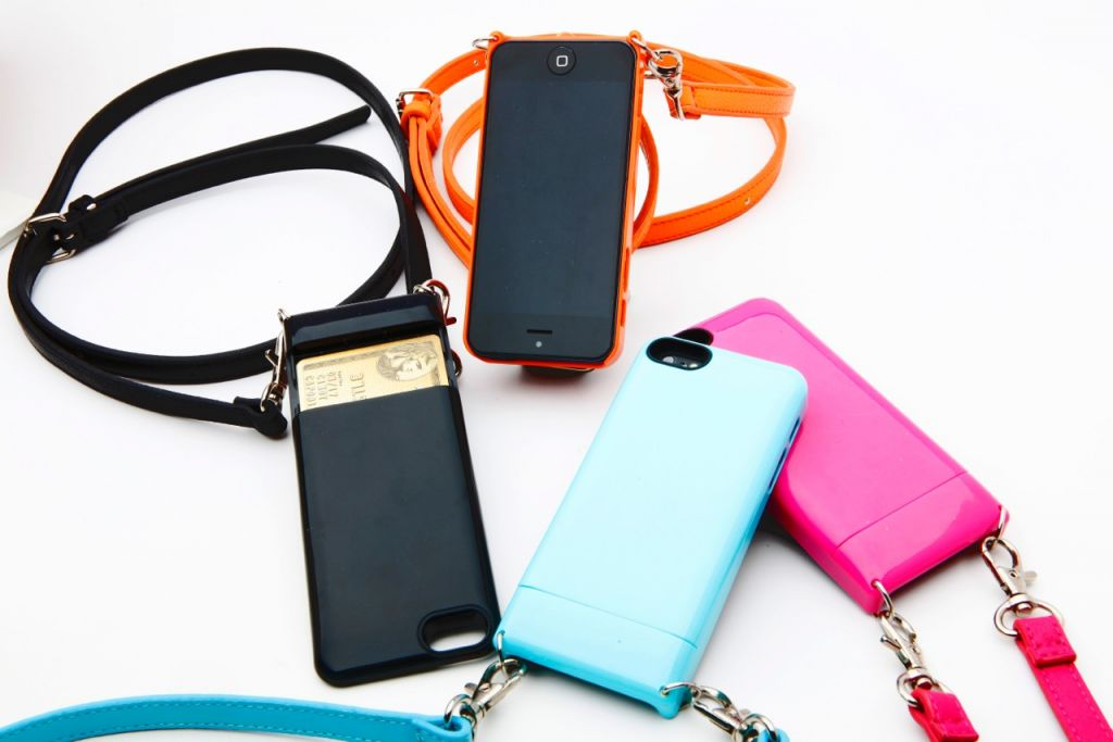 Bandolier cross-body cell phone case