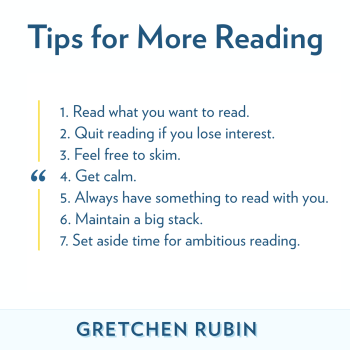 7 Tips for More Reading