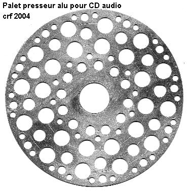 Palet presseur pour lecteur CD audio facile à faire
