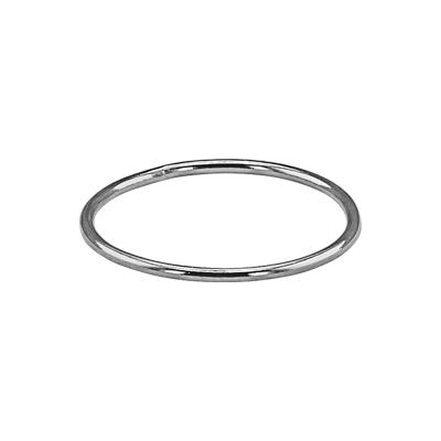 SR457: Sterling Silver Wire Stacking Finger Ring, Size 7