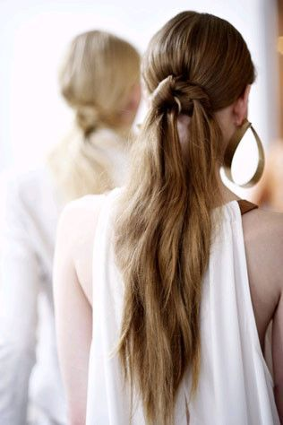 ponytails the hair trend you need to know for spring vogue australia