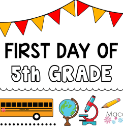 Back-to-School Printables to Celebrate that First Day   Macaroni Kid  National [ 1200 x 1500 Pixel ]