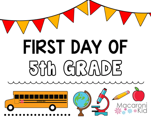 small resolution of Back-to-School Printables to Celebrate that First Day   Macaroni Kid  National