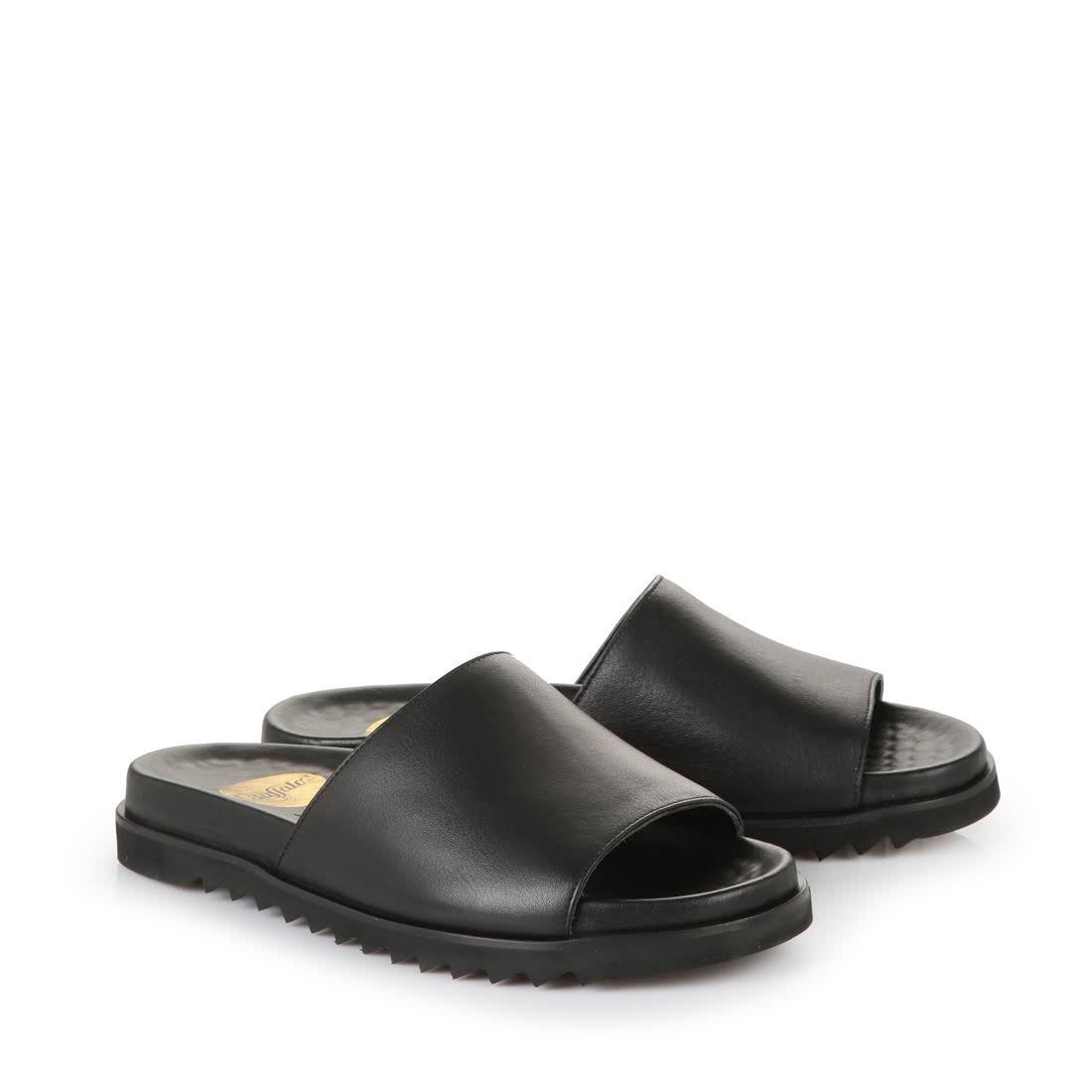 Buffalo Herren Sandale in schwarz aus Leder online kaufen