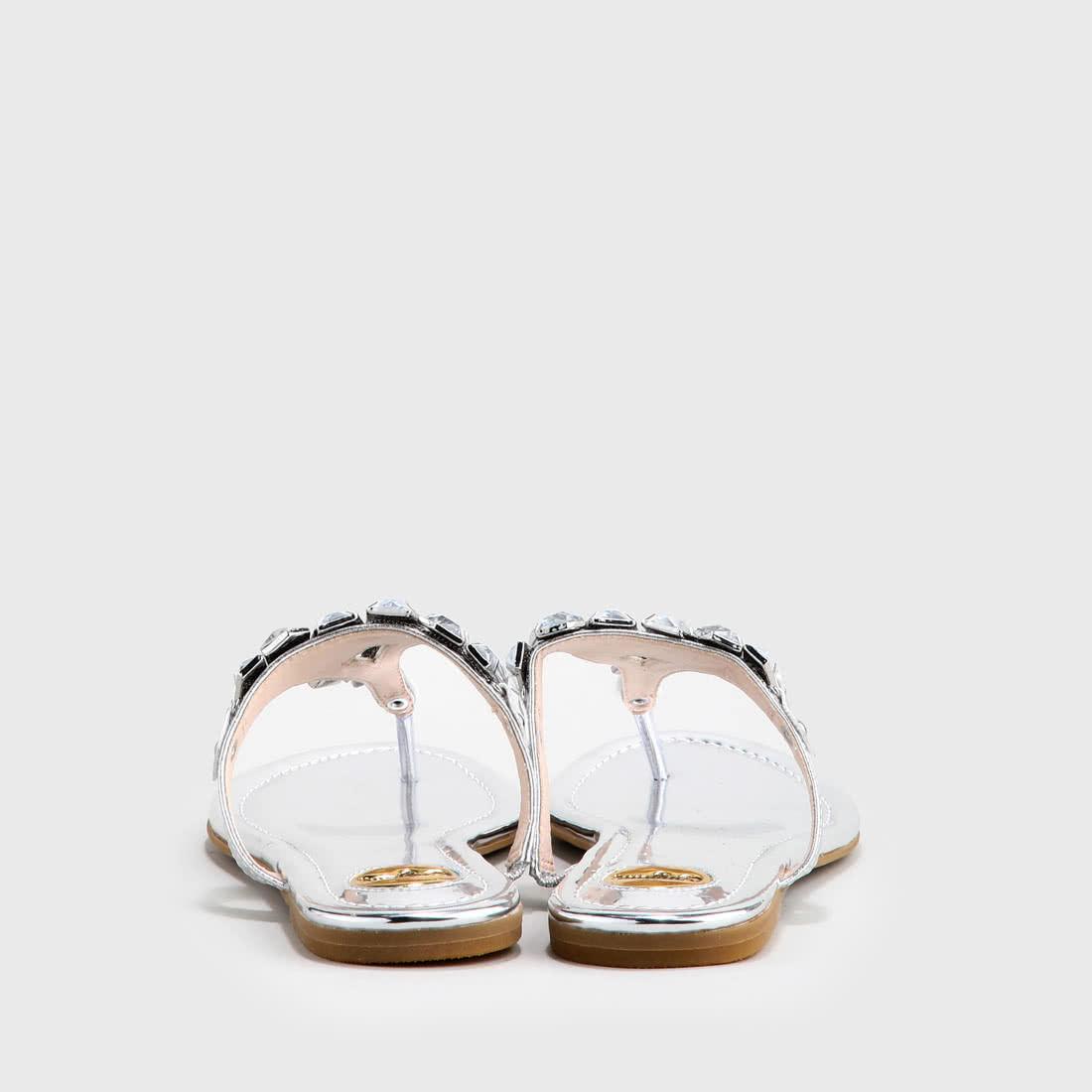 Edina Sandale Lederoptik silber online kaufen  BUFFALO