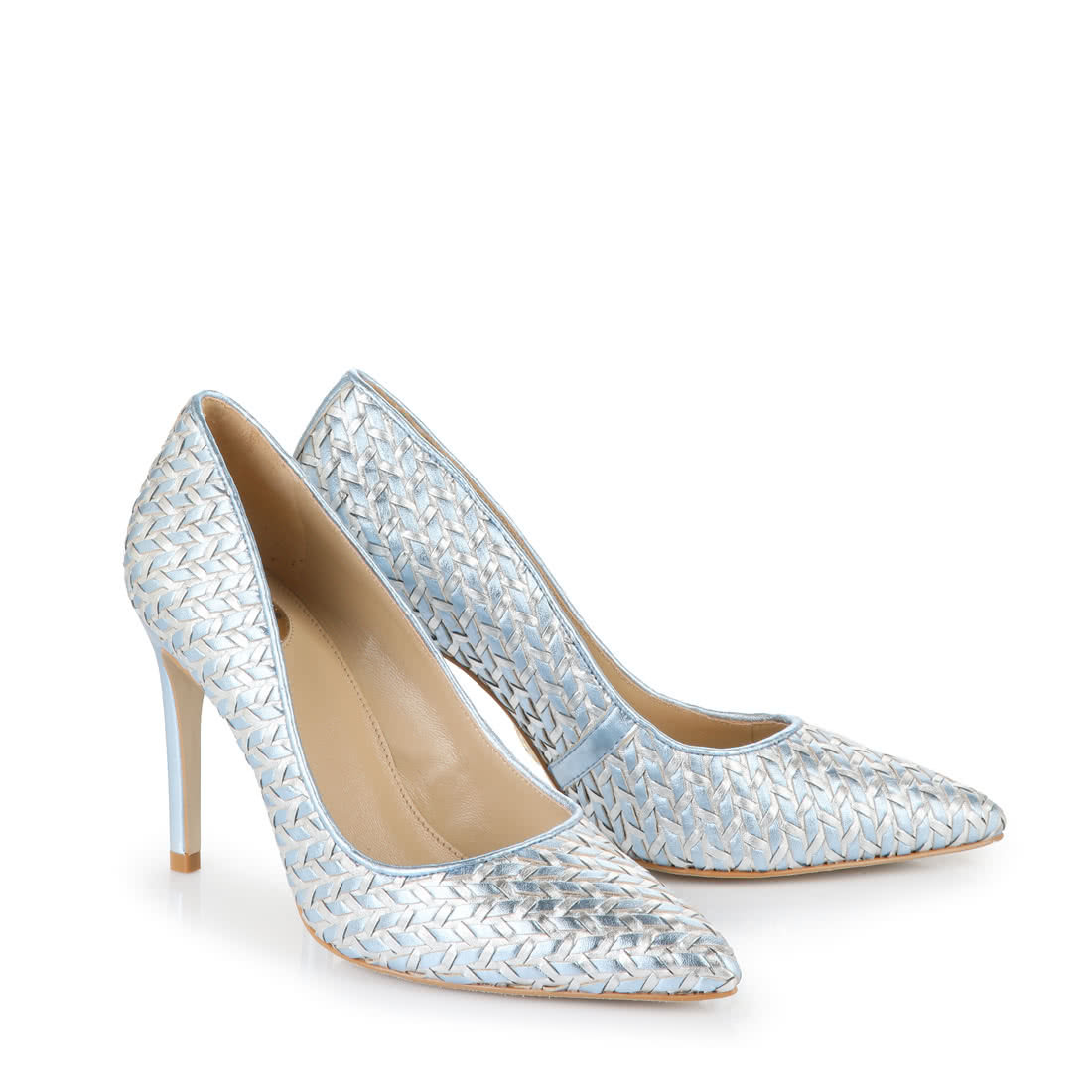 Buffalo Pumps in hellblausilber metallic online kaufen