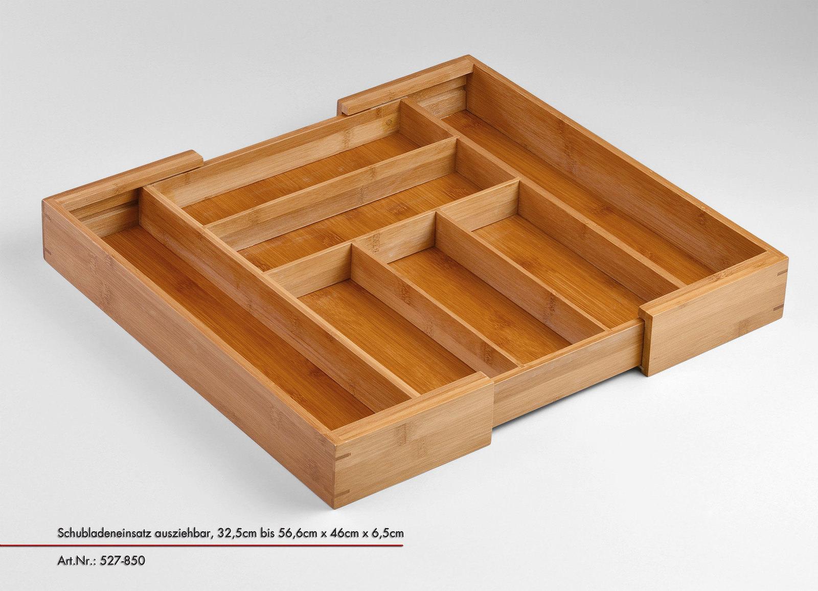 Besteck Schubladeneinsatz Besteckkasten Bambus 5 Facher Besteck Kasten
