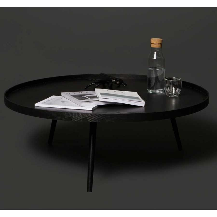 woood mesa coffee table black