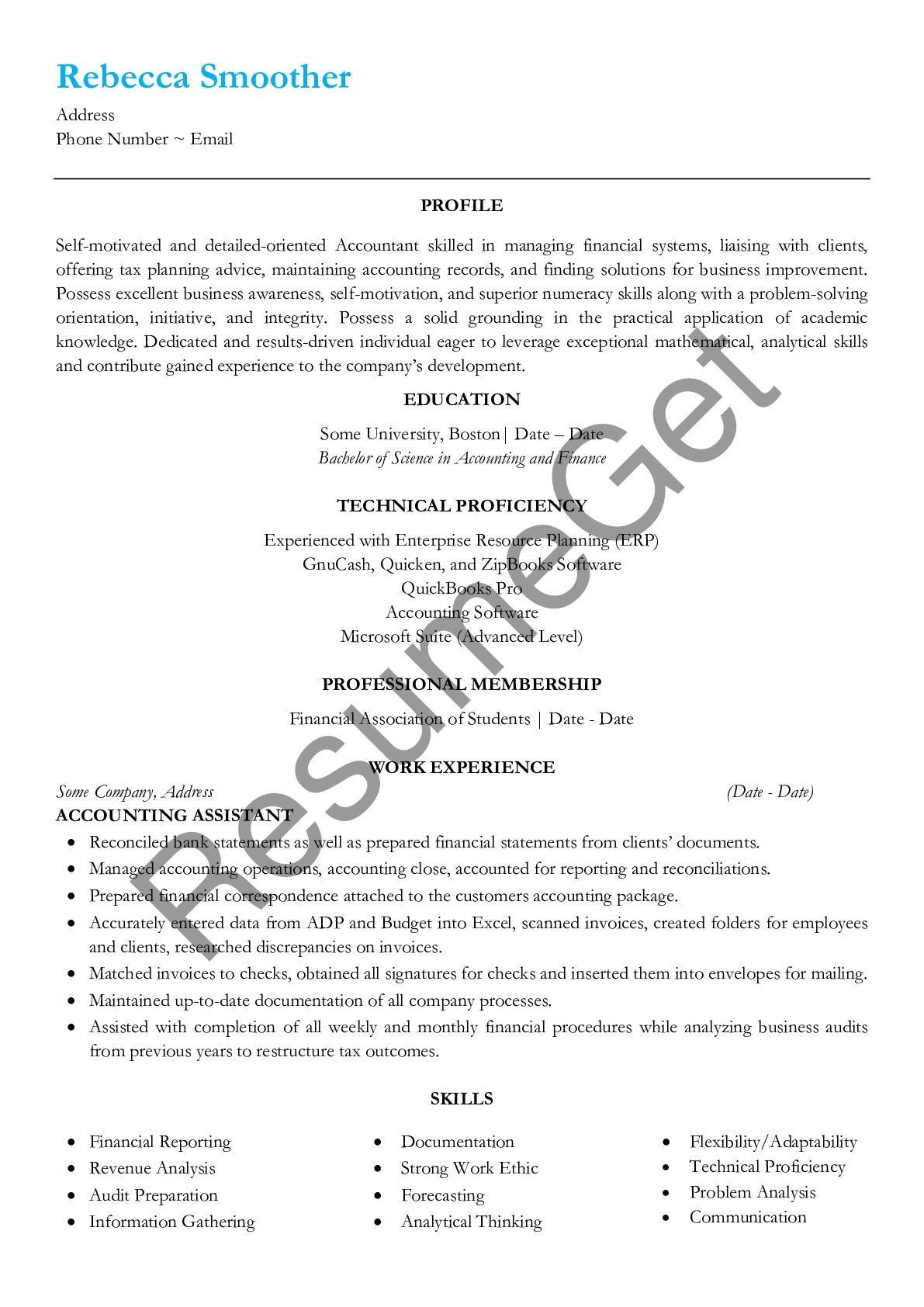 2019 accounting assistant resume examples ats