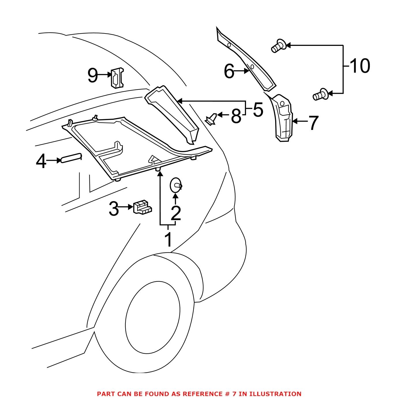 For Mercedes Genuine Body D Pillar Trim Panel Left