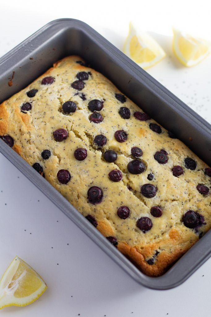 Healthy Lemon Blueberry Bread