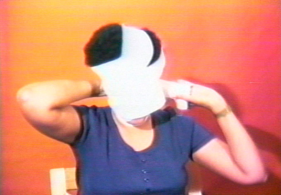 Howardena Pindell (American, born 1930). Still from Free, White and 21, 1980. Video, 12 min.15 sec. Courtesy of the artist and Garth Greenan Gallery, New York. © Howardena Pindell