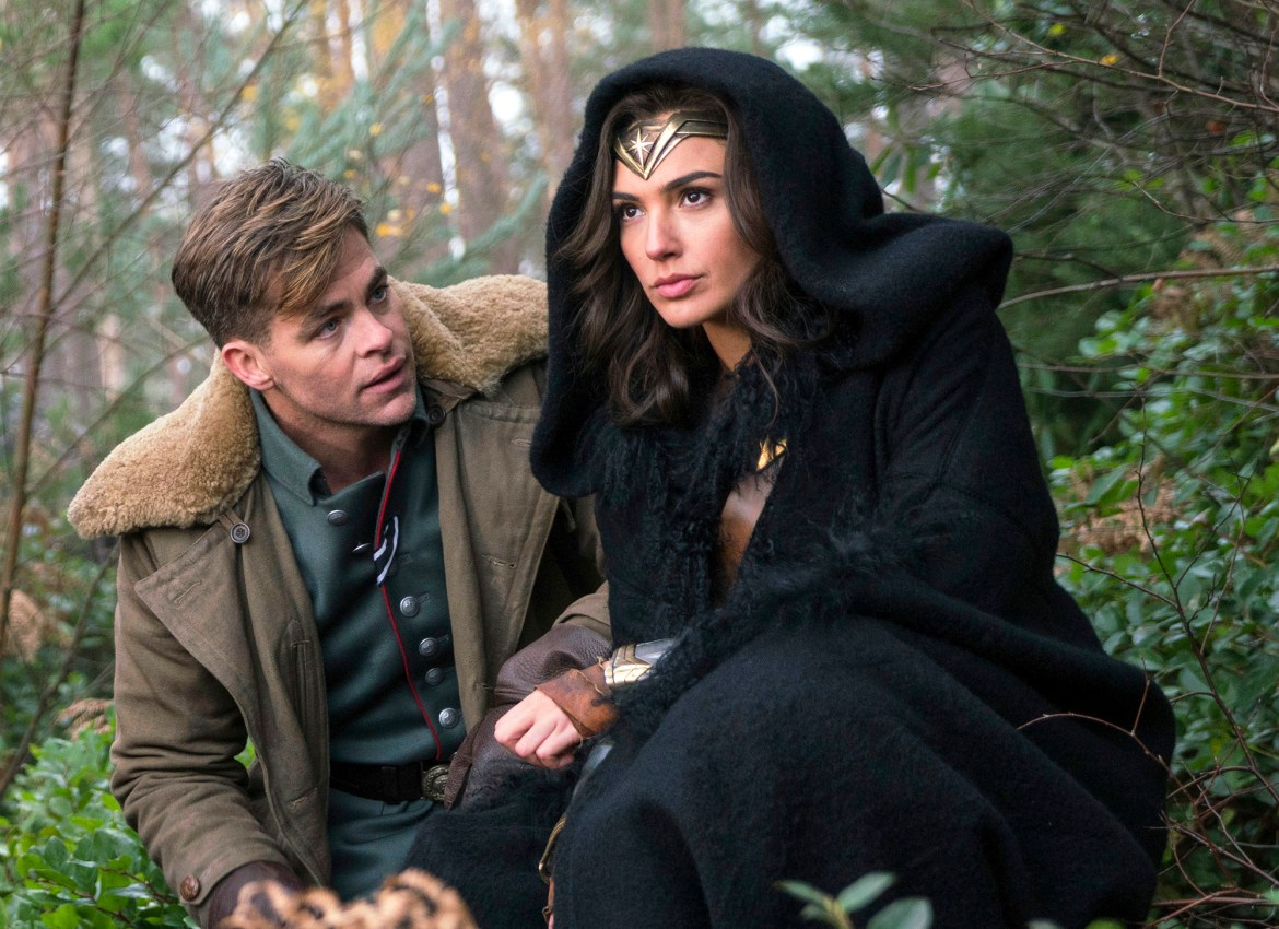 Chris Pine, left, and Gal Gadot in a scene from Wonder Woman.