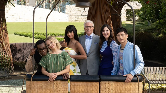 The cast of 'TheGood Place' embarking on its final voyage