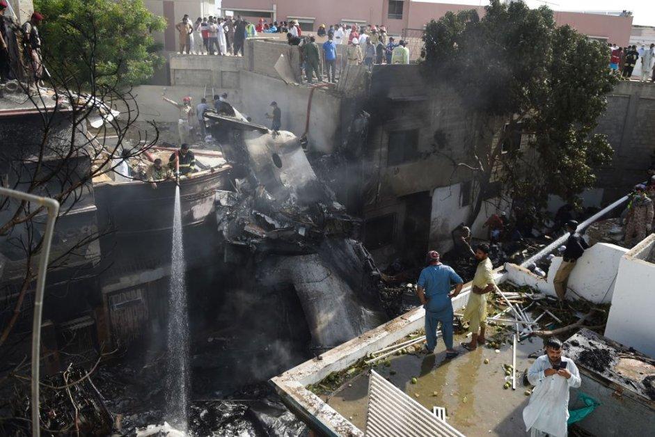 Pakistani Passenger Plane Carrying 98 Crashes Near Karachi
