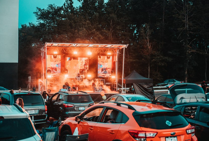 The Hounds Drive-In in Kings Mountain, N.C., has hosted more than 18 concerts, and included bands and DJs