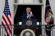 Trump Makes First Public Appearance Since Being Hospitalized for Coronavirus