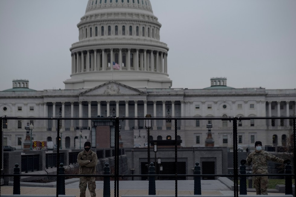 1/11/21, Washington, D.C.Members of the National Guard form a perimeter around the Capitol in Washington, D.C. on Jan. 11, 2020. Gabriella Demczuk / TIME