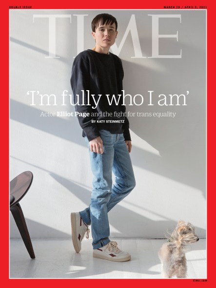 Elliot Page on the cover of Time, one of the uplifting news for Trans Day of Visibility 2021