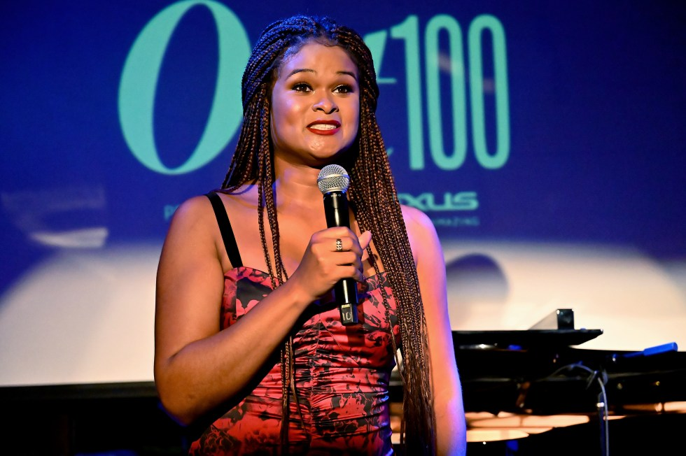 Raquel Willis speaks at Out Magazine's Out100 Event