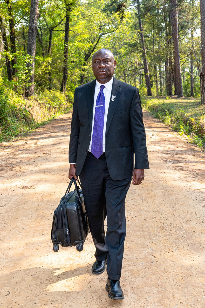 Crump on his way to visit a client in Tallahassee, Fla., on April 3.