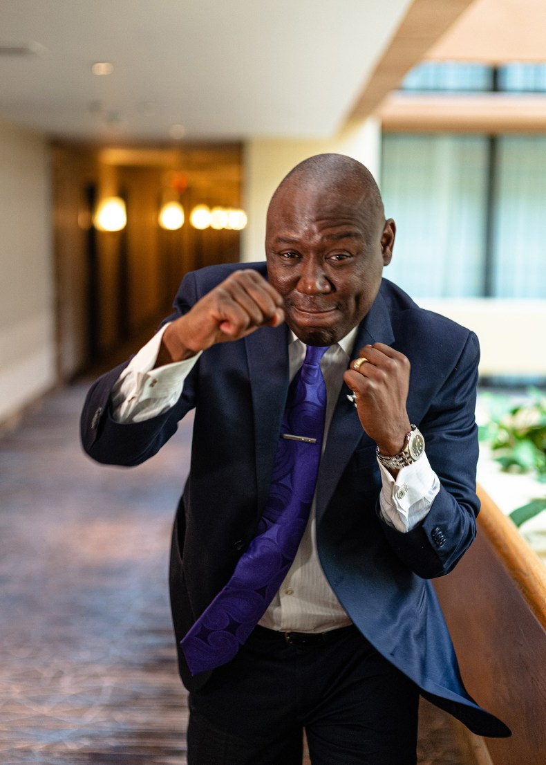 Attorney Ben Crump poses for a photograph on June 7, 2020, at a Houston hotel.