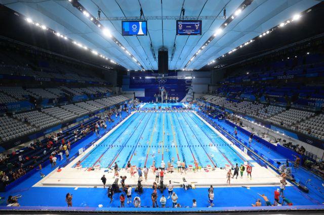 Olympische Spelen Tokyo 2020: zwemtraining