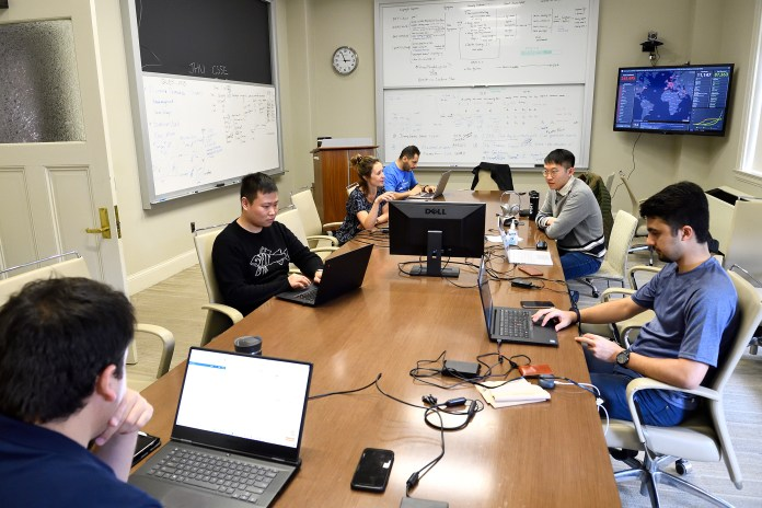 Civil engineering professor Lauren Gardner and her team work to maintain the COVID-19 dashboard, built by Gardner's team at the Center for Systems Science and Engineering (CSSE) at Johns Hopkins University.