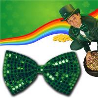 Green Sequin Bow Tie