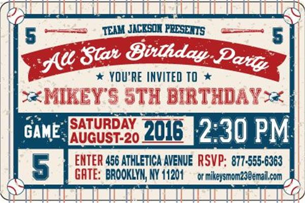 all star baseball birthday