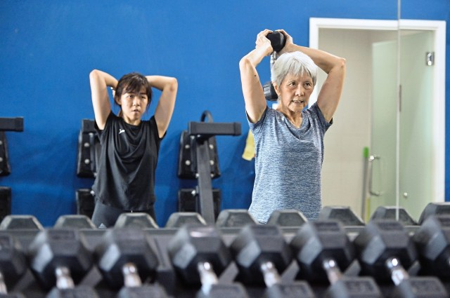 Wong believes strength training and conditioning workouts are not out of reach for seniors.