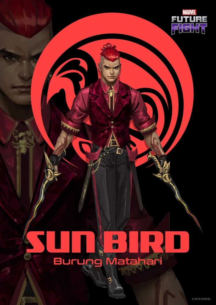 Sun Bird will be available as a playable character on mobile game Marvel Future Fight later. — Marvel