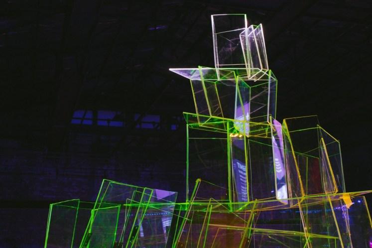 UCSI University's Odranoel's Noel (acrylic, projector, 2019). Photo: Helios Loo