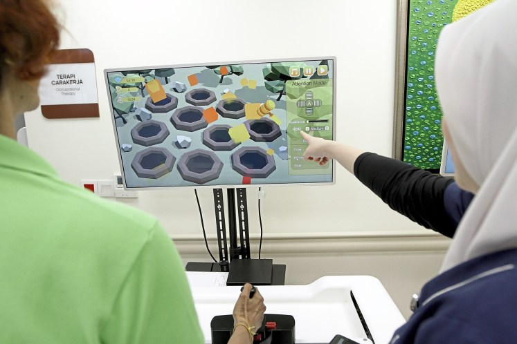 This 'video game' tests a patient's brain-hand connection and coordination.