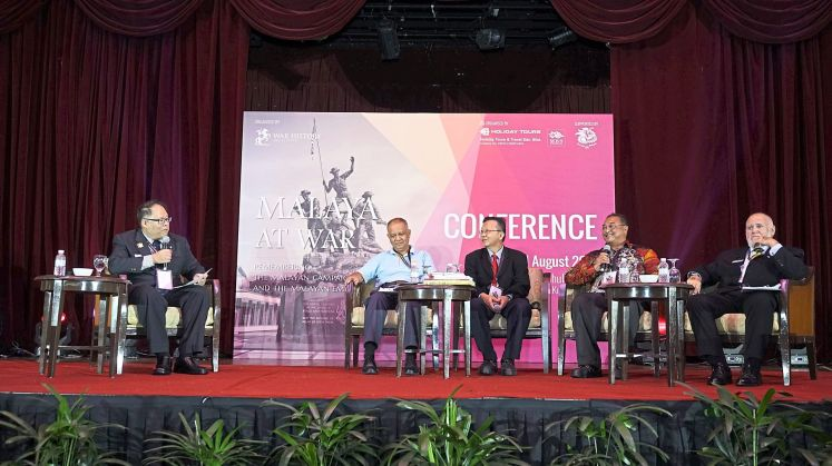 Members of the 'Preserving War Historical Sites and Promoting  Military History Tourism in Malaysia' panel: (from left) moderator Tan, Ong, Yong, Zafrani Arifin and Weatherall. — JASTON NG