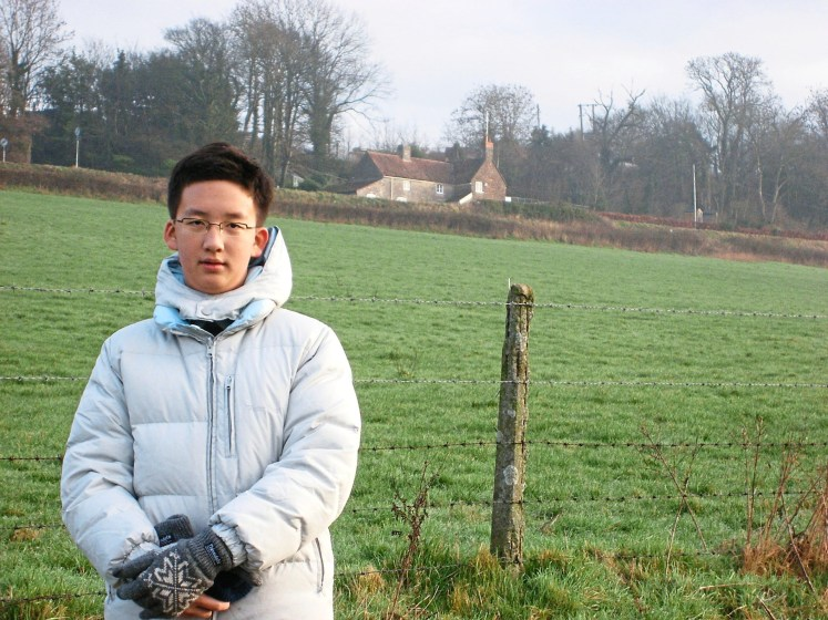 Phang at the start of his studies at the Wells Cathedral School in Somerset, England, in 2007. — PHANG LEE JAE