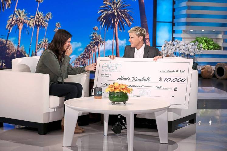 Alexis Kimball is overwhelmed to received another US$10K from Ellen DeGeneres to jumpstart Creature Comforts Rescue Inc.