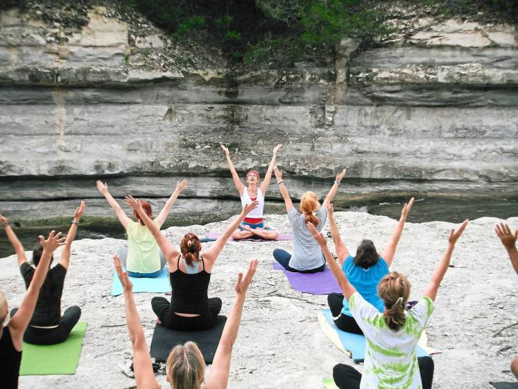 To attend a morning yoga class, get your mat and attire ready and set them out the night before.