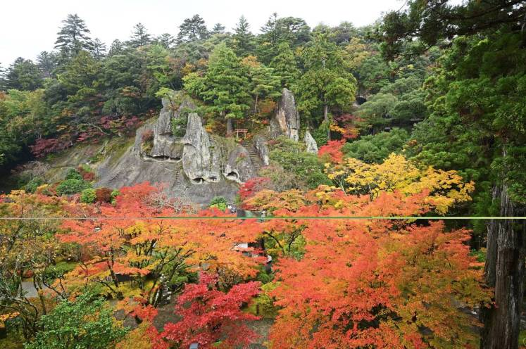 The Natadera Temple was built in 717 and the natural landscape offers a stunning view from the observation platform. — Kaga City Office