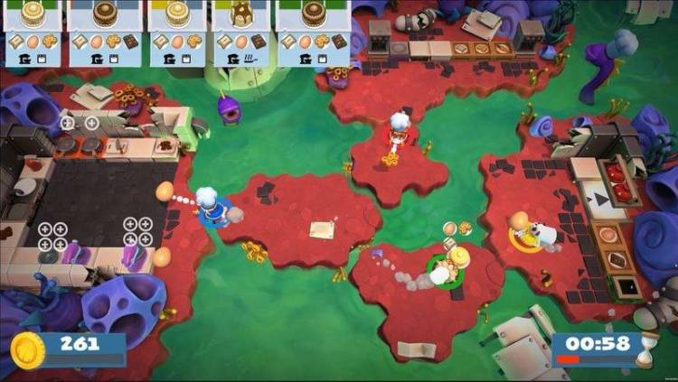 Such a stressful work environment: For parents with slightly older children, the cooking games Overcooked and Overcooked 2 can be a fun collective challenge. — Team17/dpa