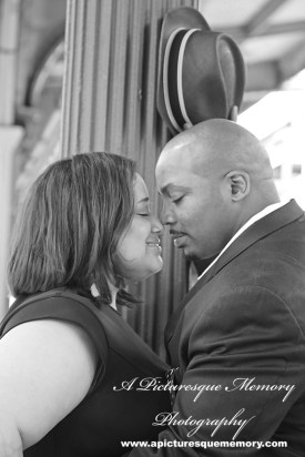 #weddings #apicturesquememoryphotography #engagement #bridetobe #groomtobe #weddingphotography #njwedding #engagementphoto #weddingphoto #hobokenterminal #hobokentrainstation