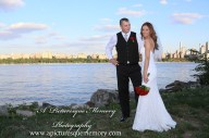 #brideandgroom, #justmarried, #njwedding, #apicturesquememoryphotography, #weddingphotography, #weddings, #watersiderestaurant, #northbergennj, #nycskyline, #weddinginspo