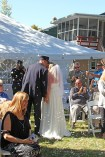 #justmarried, #njwedding, #apicturesquememoryphotography, #weddings, #firefighterwedding, #pomptonlakesnjwedding, #weddingceremony, #backyardwedding
